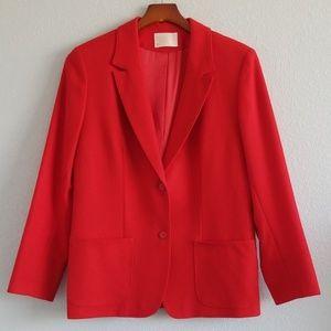 {Pendleton} Red Virgin Wool Button Down Blazer